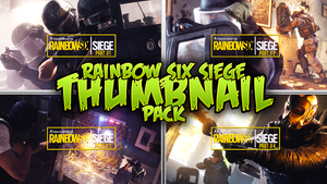 Rainbow Six Siege - Gameplay Thumbnail Template by AcezProduction