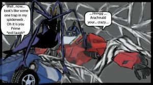 TFP: Arachnid capture Optimus by Shikutoki