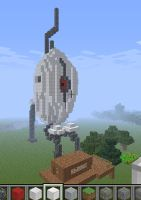 Minecraft Portal Turret by JellyRaven