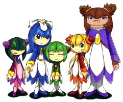 Petali: Cosmo and her sisters by Seedrius-Flora