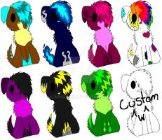 1 Point Doggie Adoptables X3 by Lalaloraa