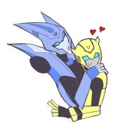 Bee and Blurr ... Sweet by NerwenAdanedhel
