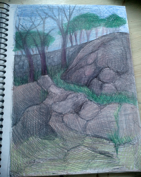 practicing to draw nature 3 by H-U-L-I