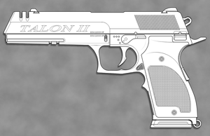 Talon II Machine Pistol by sharp-n-pointy