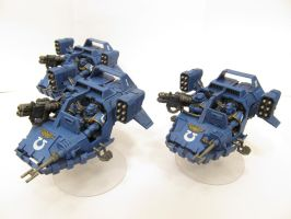 Ultramarine Land Speeders by Indefiknight