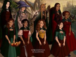 Gender bent fellowship of the ring by brittlblackrose