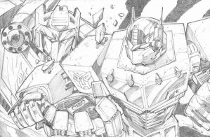 Soundwave and Optimus Prime by StevenSanchez
