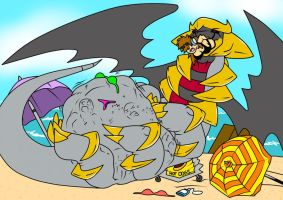 Giratina visits the beach ( coop) by SentinelWinder