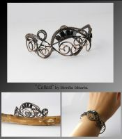 Cellest- wire wrapped bracelet by mea00