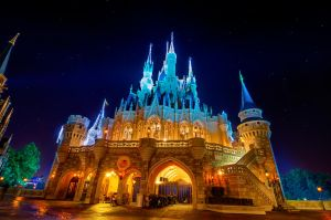 Cinderella's Castle & The Stars by shaderf