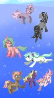 Deep Sea Ponies by EllaMRed