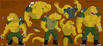 Extreme Dinosaurs 2014-TBone by darkcolorfulspots