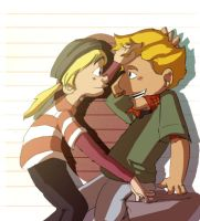 Helga and Arnold by un-forgettable