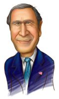 caricature george bush by clapano