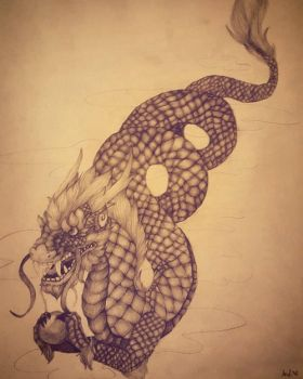 AT: Simple Chinese Dragon by GhostlyMetalhead