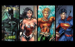Superman , Batman , Wonder Woman , Aquaman 05 by adeadhitya