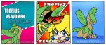 Tropius VS Women in Video Games by JHALLpokemon