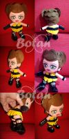 chibi Sally Jupiter plush version by Momoiro-Botan