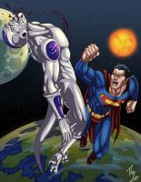 Superman vs. Frieza by phil-cho