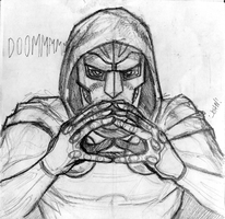 Dr. Doom Pencils by jbyrd117