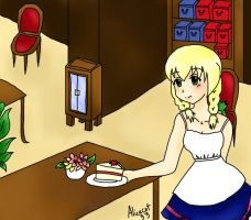 Making a mirror image (The witchs house scene1) by AliceCat33