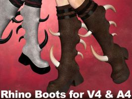Rhinoceros Boots V4,A4,V4Male by parrotdolphin