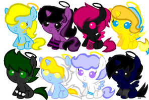 Angel and Dark Angel Foals batch adopts by DB1999Adopts