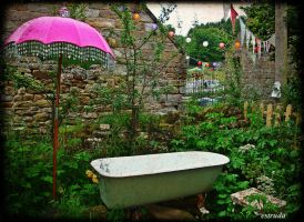 Bathtime In The Garden by Estruda