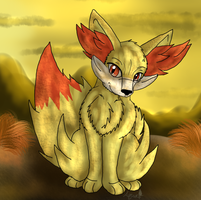 Fennekin by AquatheOhioKitty