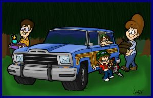 Zambonis and a Wagoneer by AgentC-24