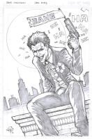 Joker Sketch Card by Carl-Riley-Art