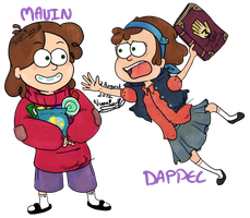Genderbend Gravity Falls by Twin-Divinity