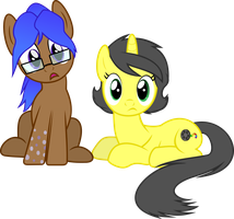 [Art trade]: Danielle and Paulie by BlueThunder66