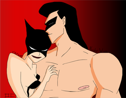 Catwoman and Nightwing - Dreaming by Kim-Possible333