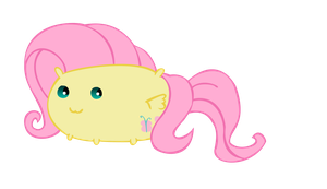 Fluttershy Chubby Vector by MaybyAGhost