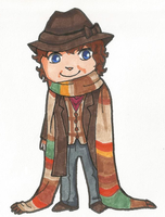 Fourth Doctor Chibi by PookNero