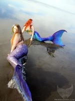 Mermaids on the Shore by Mermaid-Iona