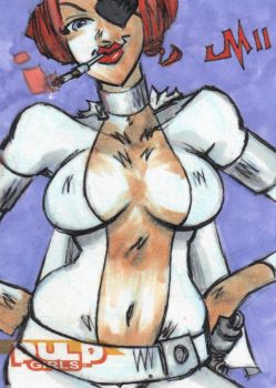 SKETCH CARD Princess Cocktease by jasinmartin