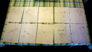 Harry Potter Initial Sketches by artbyjoewinkler