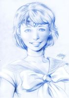 Sailor Mercury Portrait by MatiasSoto