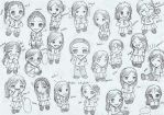 dang... 22 lil' chibis... XD by 13-year-old