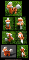 Mini Growlithe Plush by racingwolf