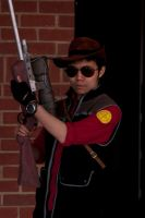 TF2 Sniper cosplay by greenzaku