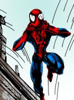 Spiderman Coloured by richyunspoken