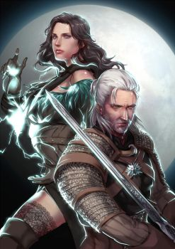 [The Witcher 3] Geralt and Yennefer by eilinna
