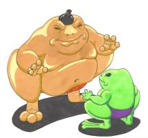 Swamp Sumo: Toad v.s. Frog by Scuter