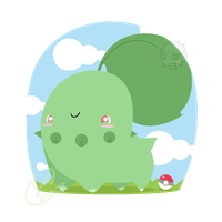 Excuse me, Chikorita by SteveKdA
