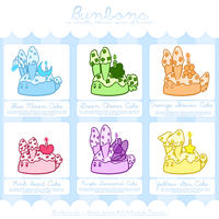 Bunbon Adoptables - Set 3 *THEMED SET* - CLOSED by Kiwicide
