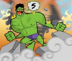 The hulk by kungfumonkey