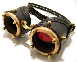 Steampunk goggles 10 by AmbassadorMann